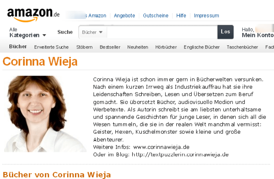 Corinna Wieja Author Page
