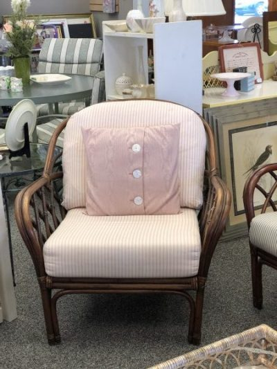 Rattan chairs with cushions $95
