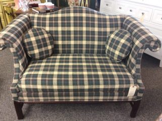 flannel couch