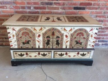Decorative hand painted chest $295