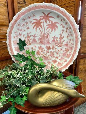 Asian bowl $99 Brass swan $20