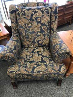 image of Paisley wing chair