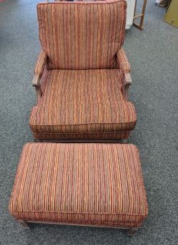 Striped chair with ottoman- $125 each there are two but sold separately