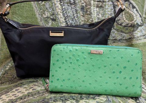 Vintage Kate Spade Green Wallet $69 Vintage Kate Spade satin handbag - $49