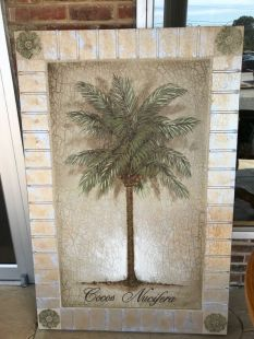 Palm Tree Artwork - ON SALE $49