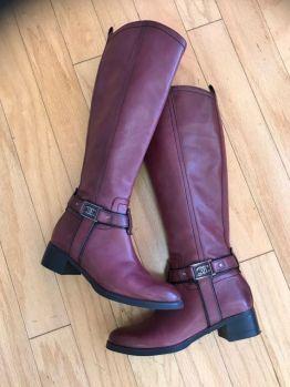 plum riding boots