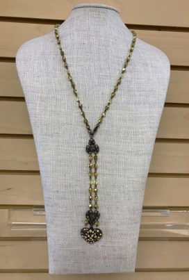 $59 beaded stone necklace