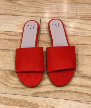 $15 size 8 Deep Orange slides