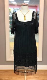 $59 size Small Flapper black beaded dress