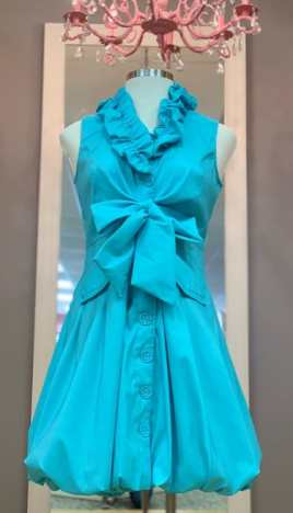 $49 Size Medium blue ruffled dress
