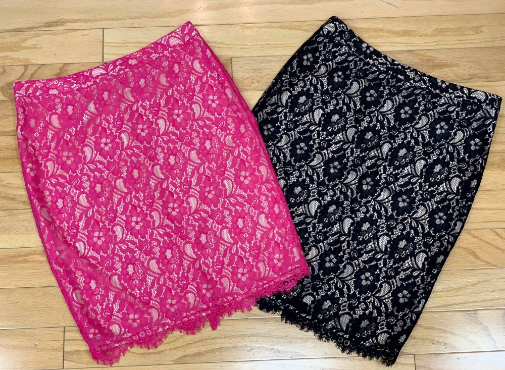 $49 each Sz M Joie soft lace lined skirts