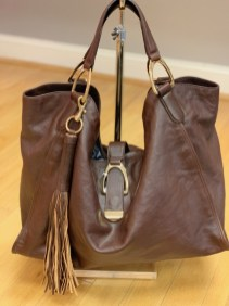 $79 chocolate leather bag