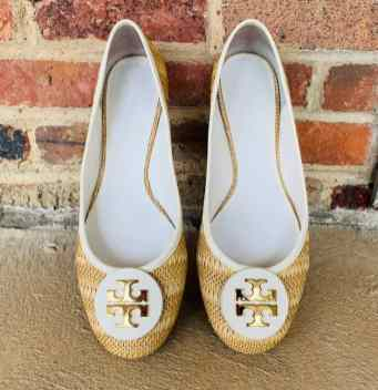 Tori Burch textured flats Size 11 $45