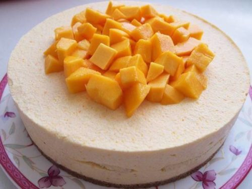 Dessert Recipes[No-Bake] Yummy Mango Cheesecake Recipe