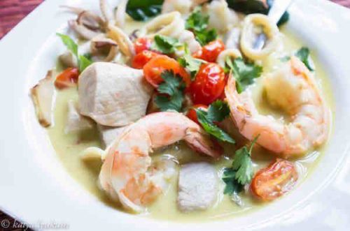 Seafood in Coconut Cream Recipe