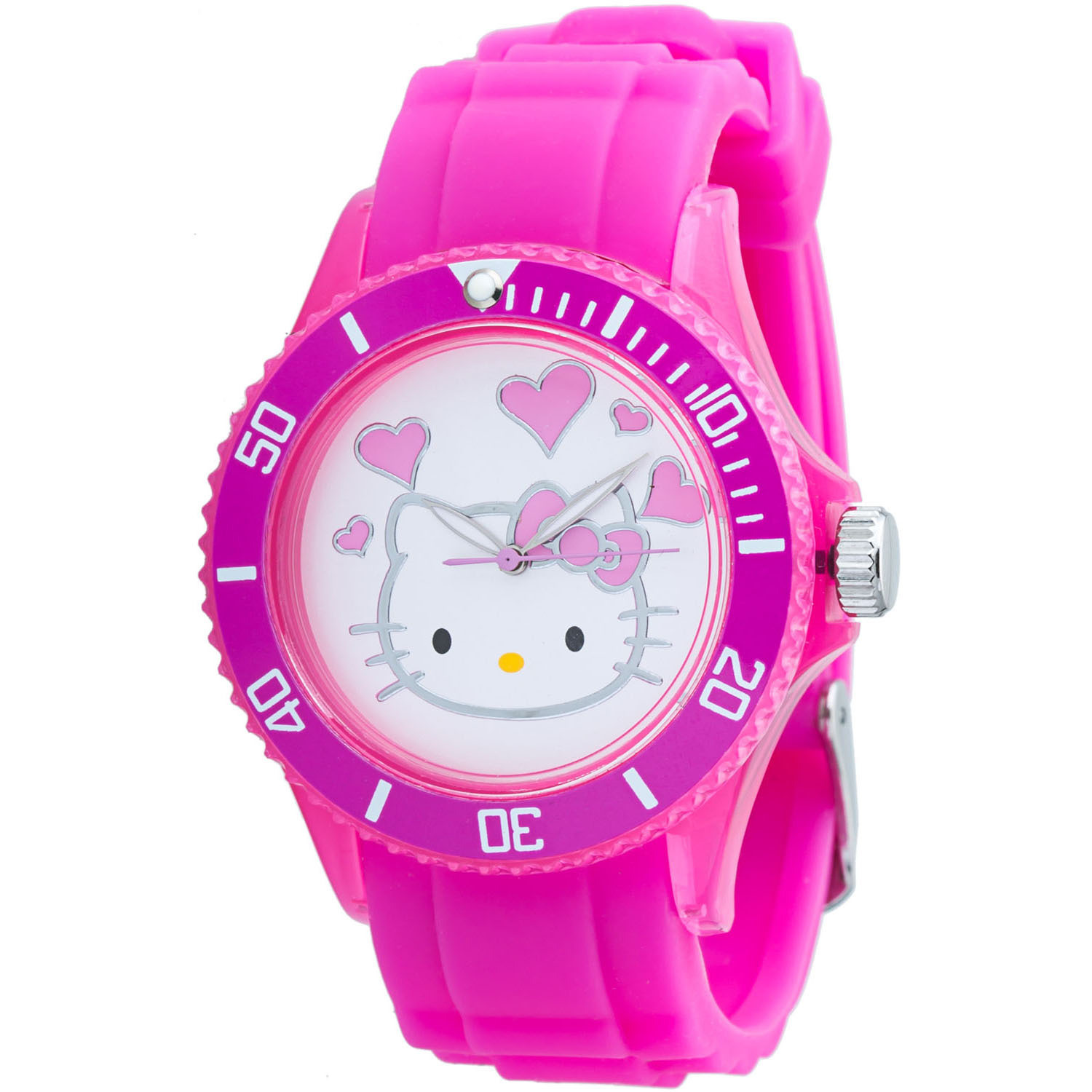 8f3925ce9 Hello Kitty Women's Pink Plastic Quartz Watch - Jewelry Outlet