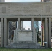 Memorial on traffic island
