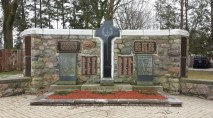 Arthur Cenotaph made from fieldstone