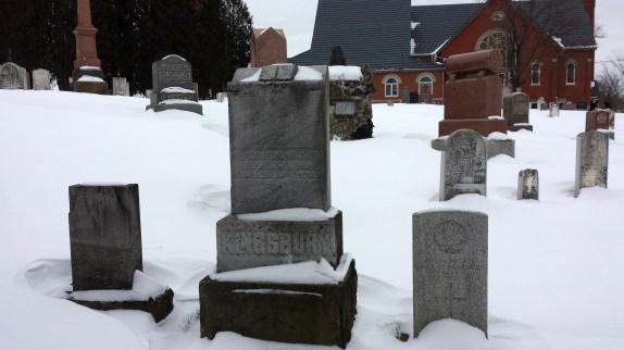 Kingsbury graves at Ebenezer Cemetery