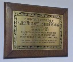 Memorial Plaque in St Andrew's Church
