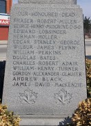 Names on south side of monument