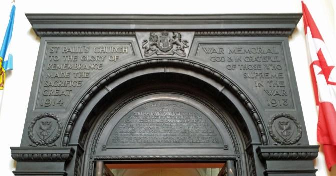Dedication over St Paul's doorway
