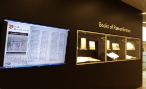 Display of Books of Remembrance in Halifax Central Library