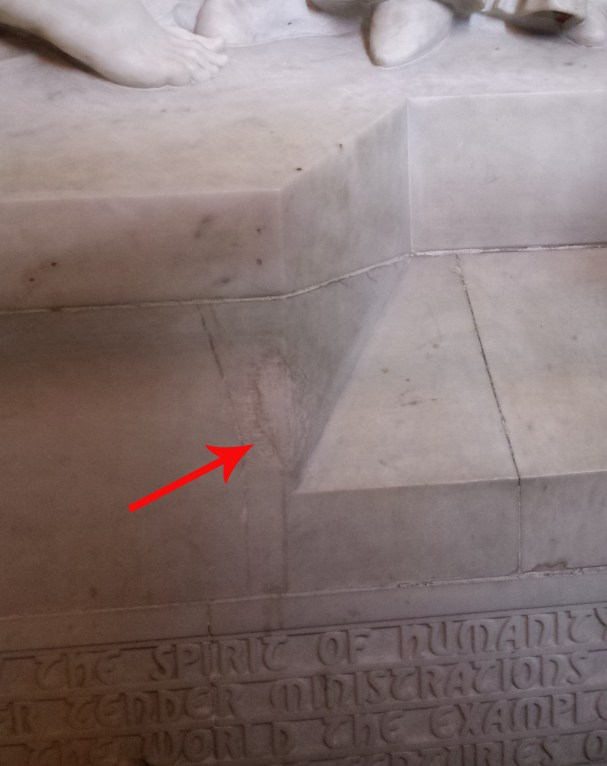 Damage repair on Nursing Sisters Memorial