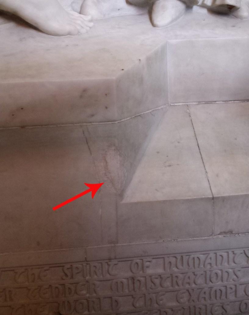 Damage repair on Nursing Sisters Memorial