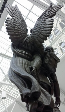 Detailed wings of Angel of Victory