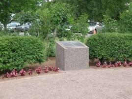 Memorial to Nursing Sister Rena McLean, in Rena McLean Memorial Garden, Government House, Charlottetown, PEI