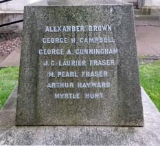 Names on St Matthew's Church Cross