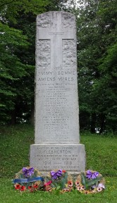 Front of Flesherton cenotaph lists those killed