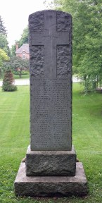 Back of Flesherton cenotaph lists those who served