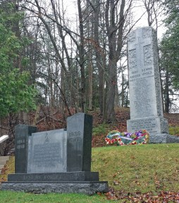 Flesherton cenotaph with new Legion marker