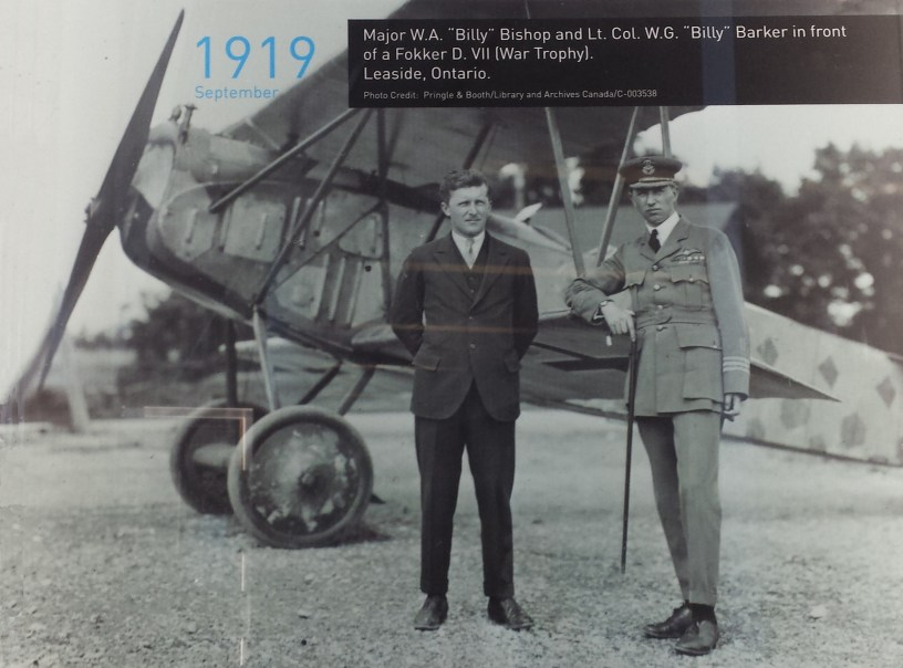 Photo of Billy Bishop and William Barker from airport exhibit