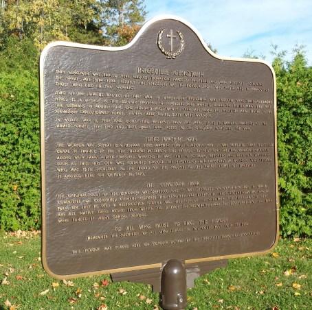 Plaque tells history of Priceville Cenotaph Park