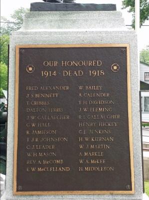 Some of Shelburne's honoured dead (WW1)