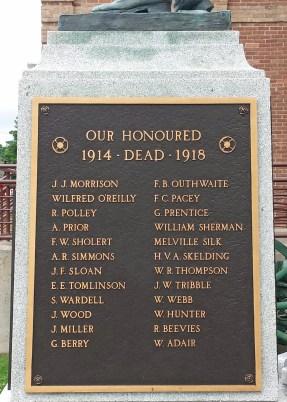 More of Shelburne's honoured dead (WW1)