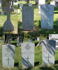 RFC/RAF graves in Deseronto – Humphreys, Coleridge, Holland, Robson, Grand, Marshall