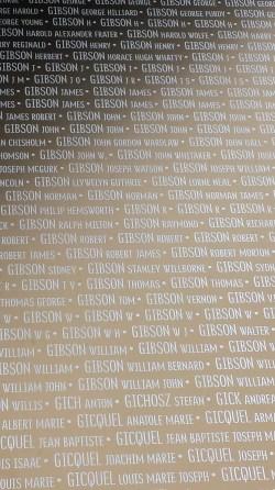 John Gordon Wardlaw Gibson, Ring of Remembrance, Notre Dame de Lorette