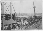 Members of the regiment aboard an unknown ship c1915-1919. Collections CCGW/CCGG 2015.02.20.01