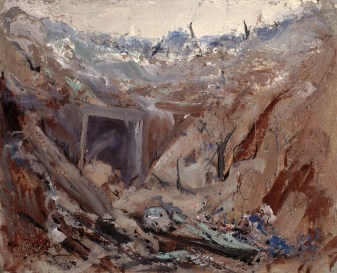 Dug Out on the Somme, 1919. Mary Riter Hamilton.