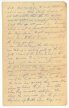 Sgt Edwin Stewart Turner to his sister, October 4 1916. Turner had just fought at Courcelette with the 42nd Battalion.