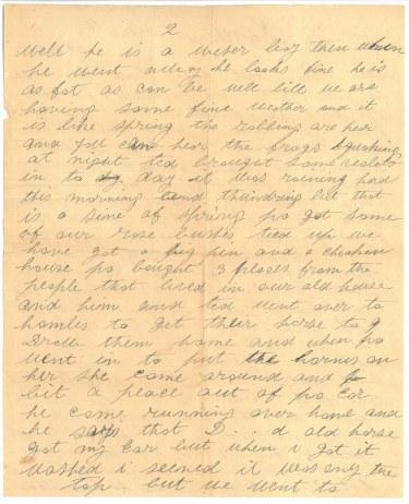 Mrs. William Barker to her son, Pte William James Barker. April 6 1919.