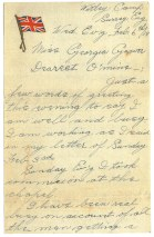 Pte Tully Weaver Estee to his girlfriend Georgia Gower, February 6 1918