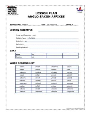Anglo Saxon Affix