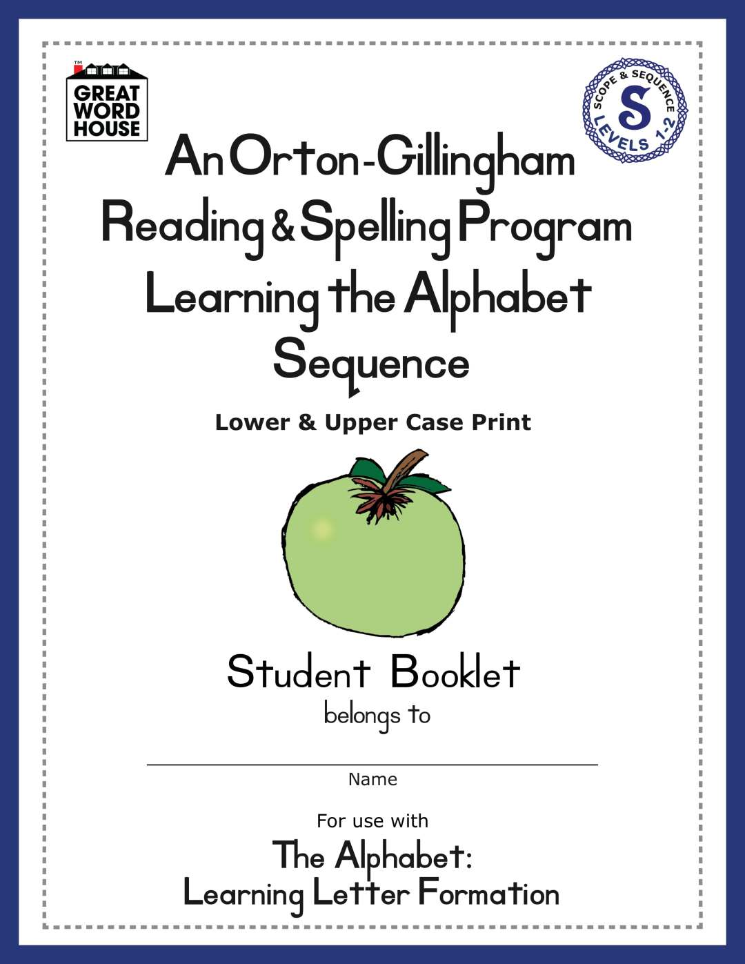 Learning The Alphabet Sequence Student Booklet