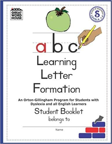 Learning Letter Formation Student Booklet