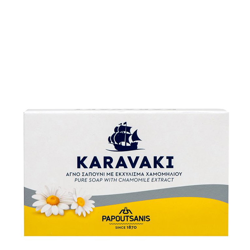 BAR OF PURE SOAP WITH CAMOMILE EXTRACT, BY PAPOUTSANIS
